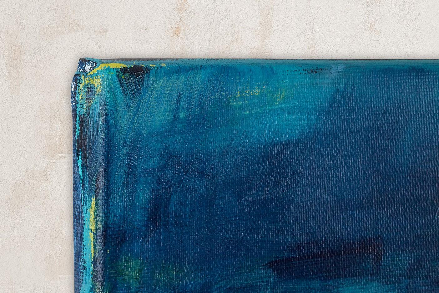 Abstrakt-blau-gelb