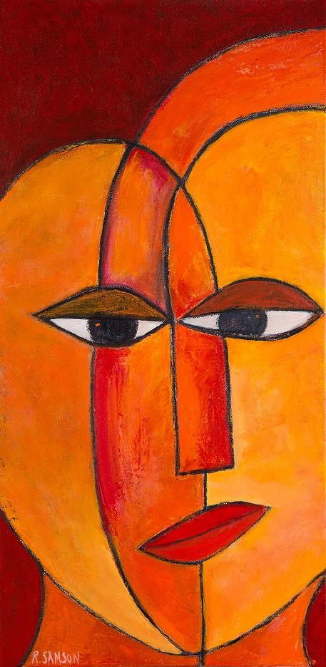 Gesichter in Orange