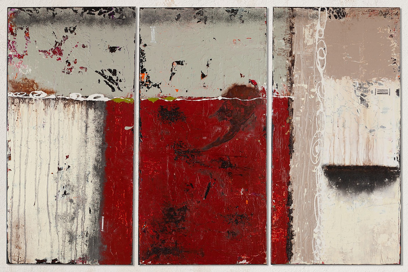 Triptychon Rot
