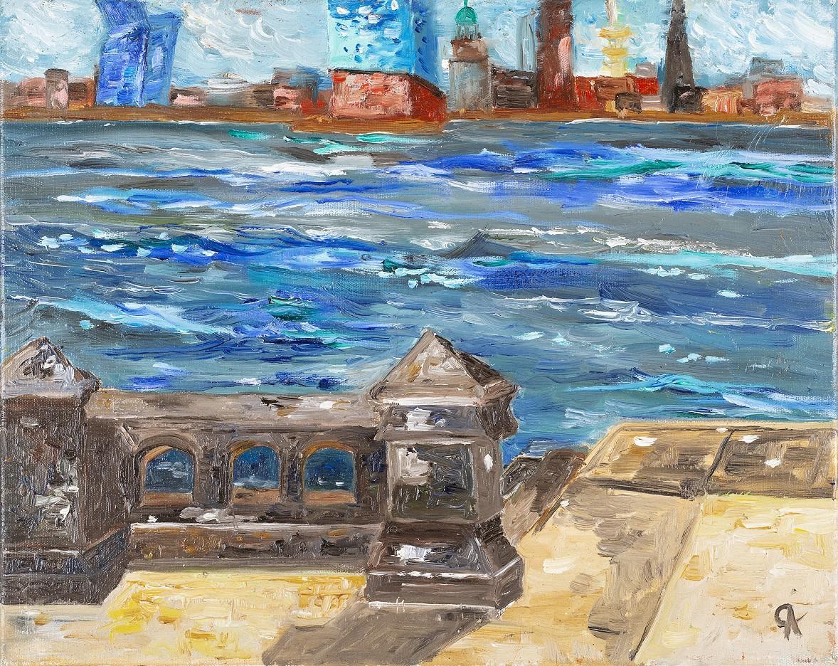 Hamburg-Panorama am Hafenmuseum
