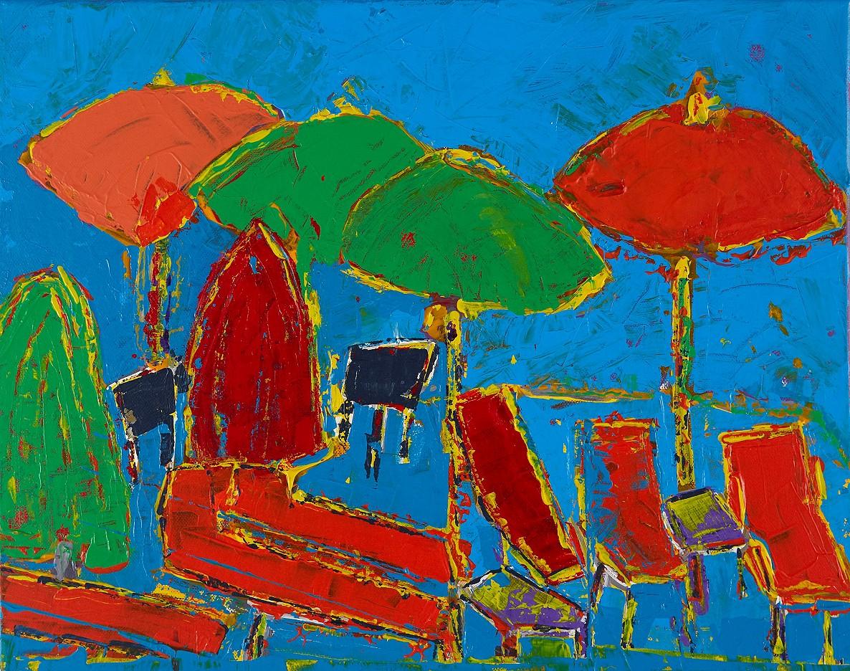 Am Strand - blau
