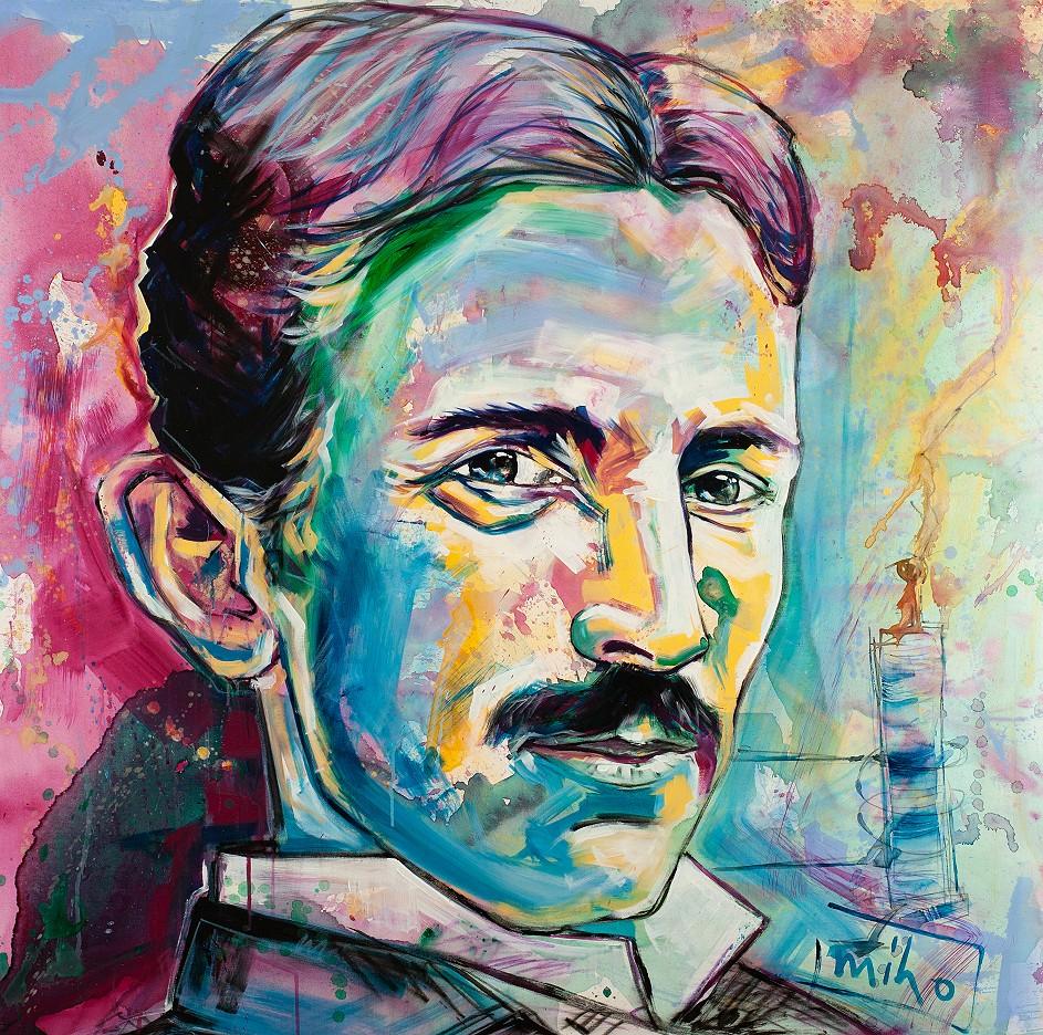 Ohne Titel - Hommage an Nikola Tesla - miho   113/2018