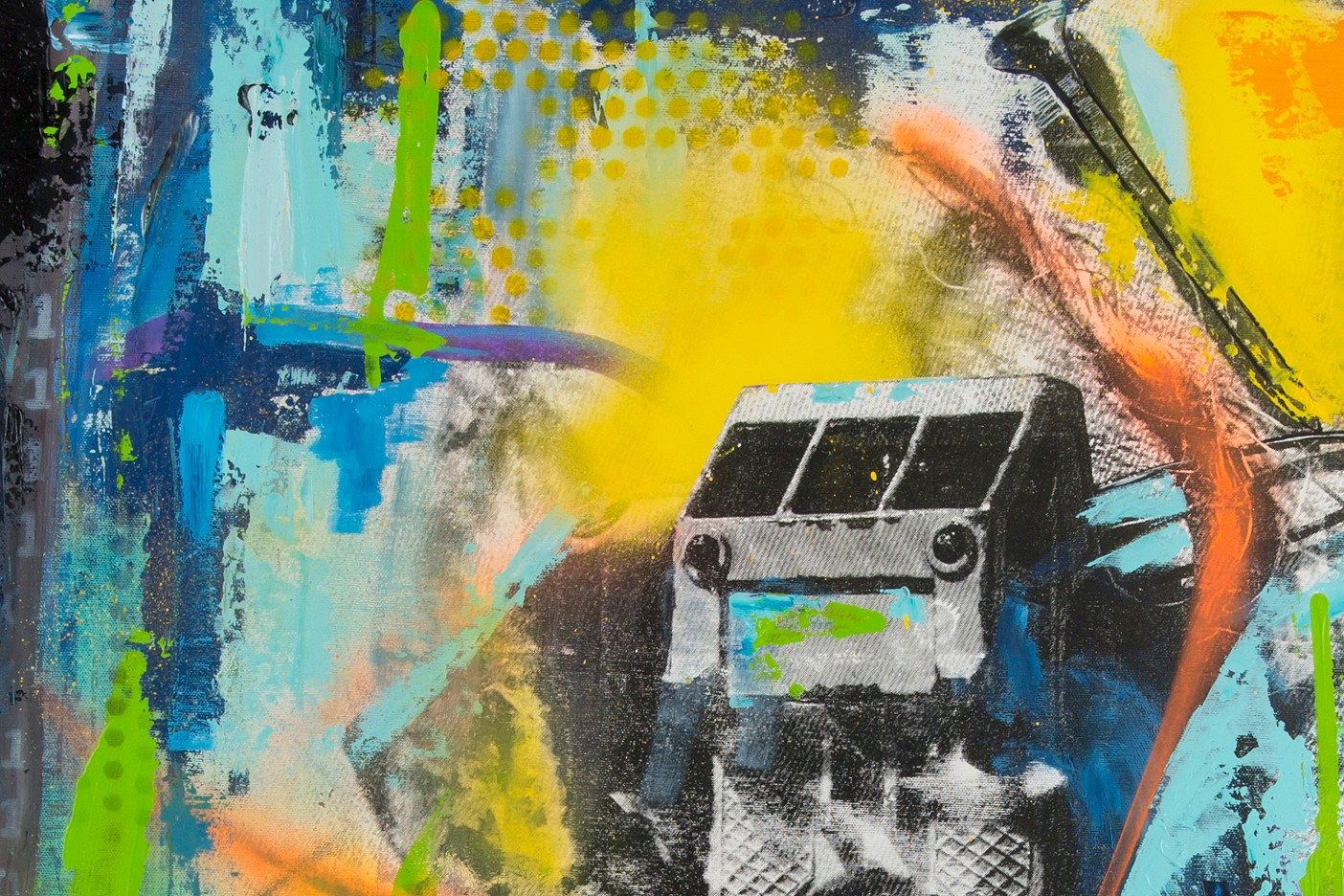 Abstrakt.Inhalt einer Hosentasche
