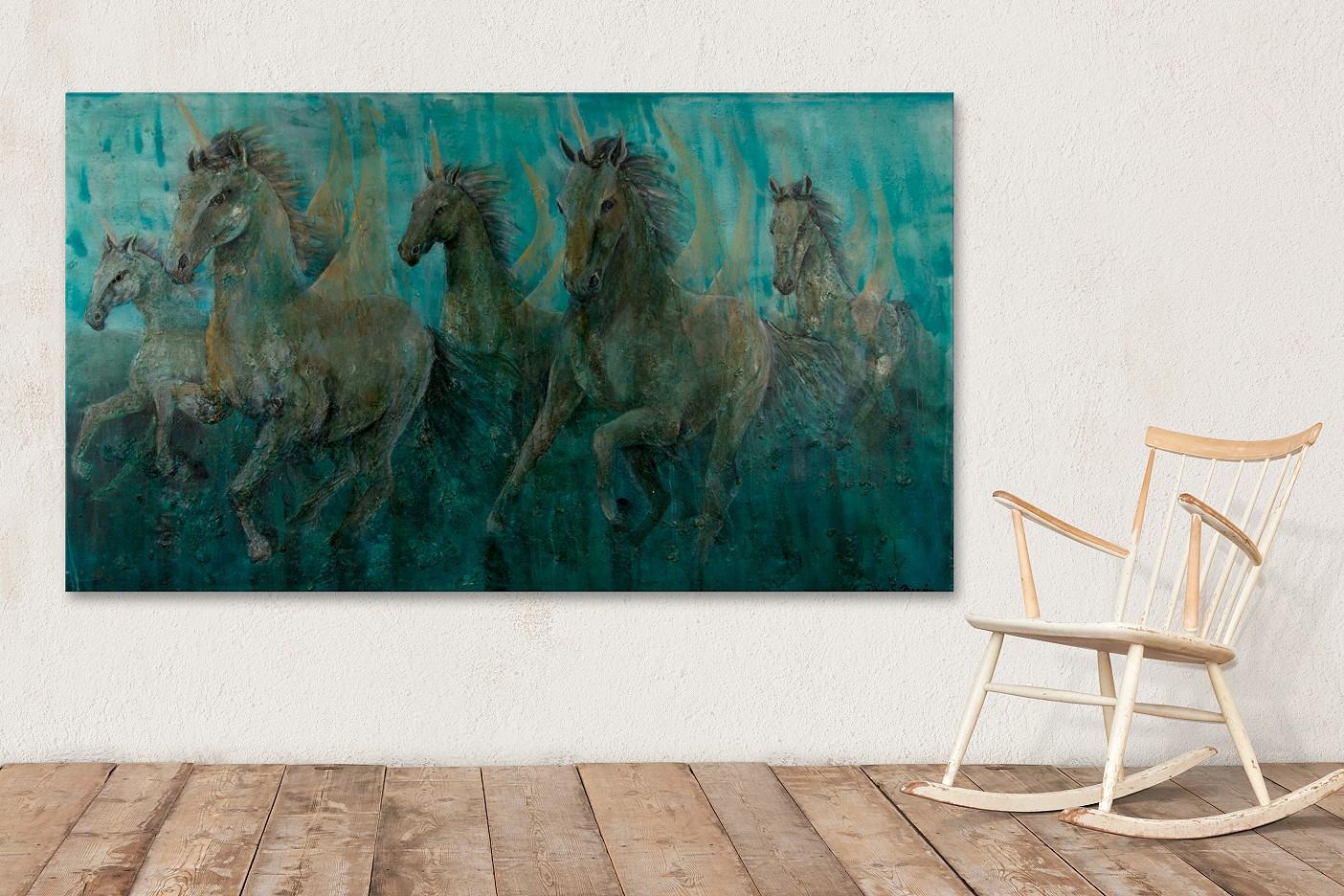 Blue unicorns