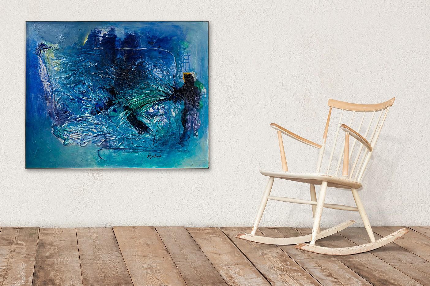 Spuren - Wasserblau