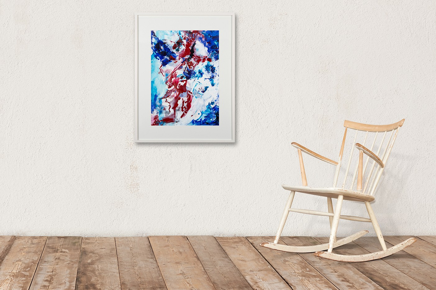 Komposition Rot Weiß Blau I