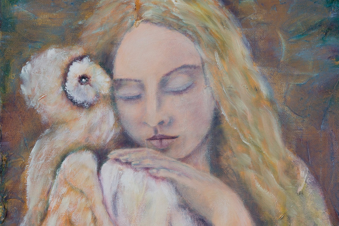 angel with owl