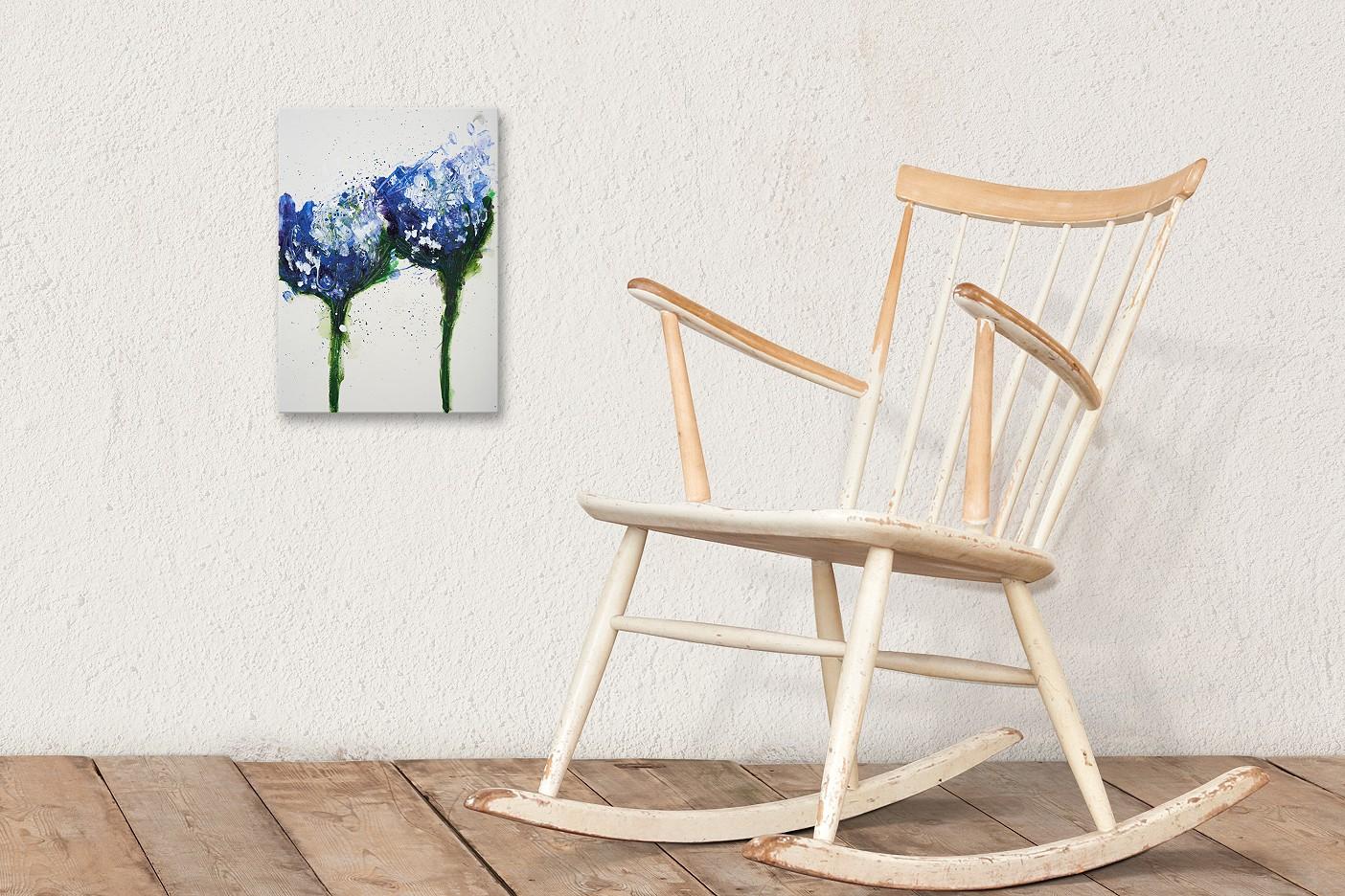 Wilde Blumen in blau