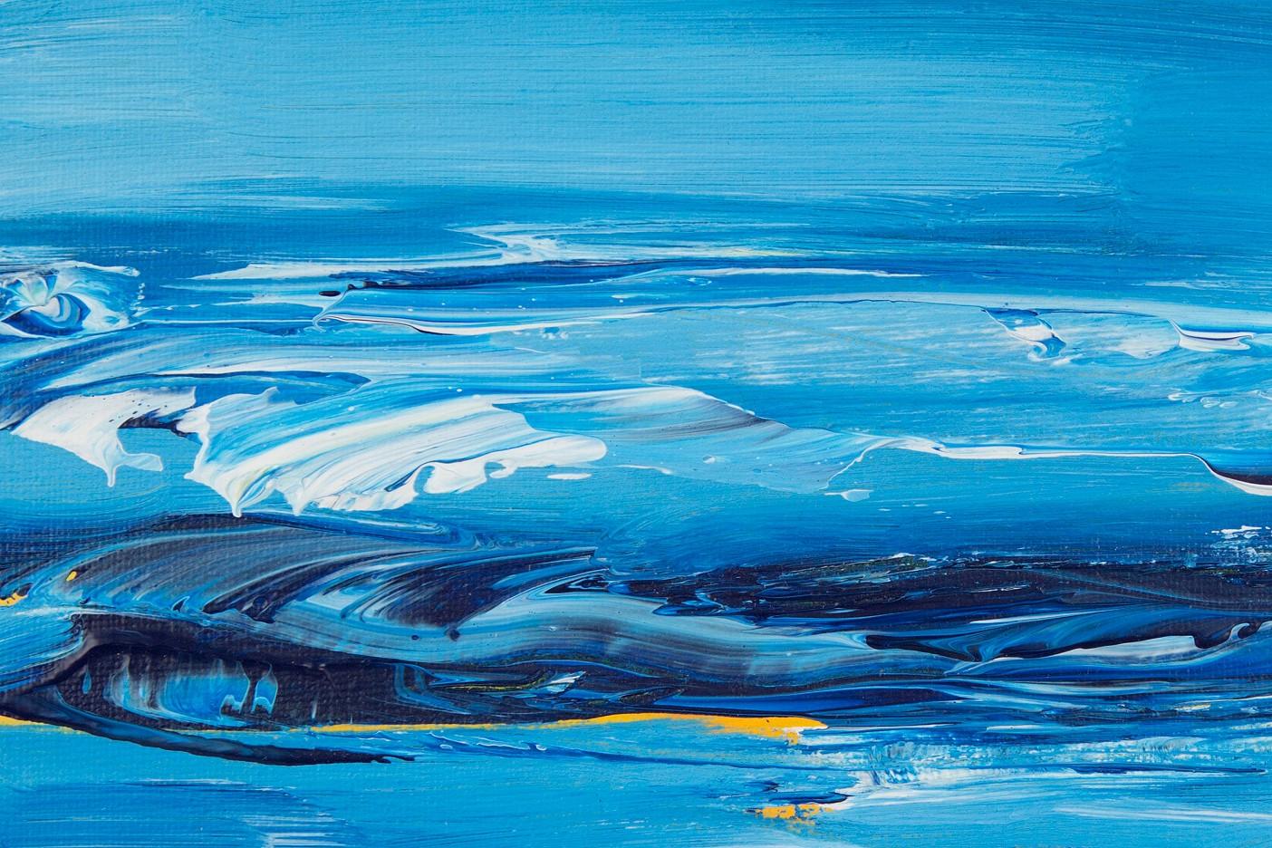 Blaue Meereslandschaft