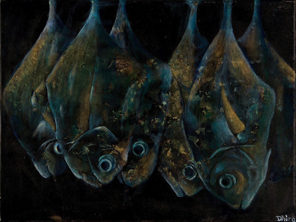 Hanging fishes