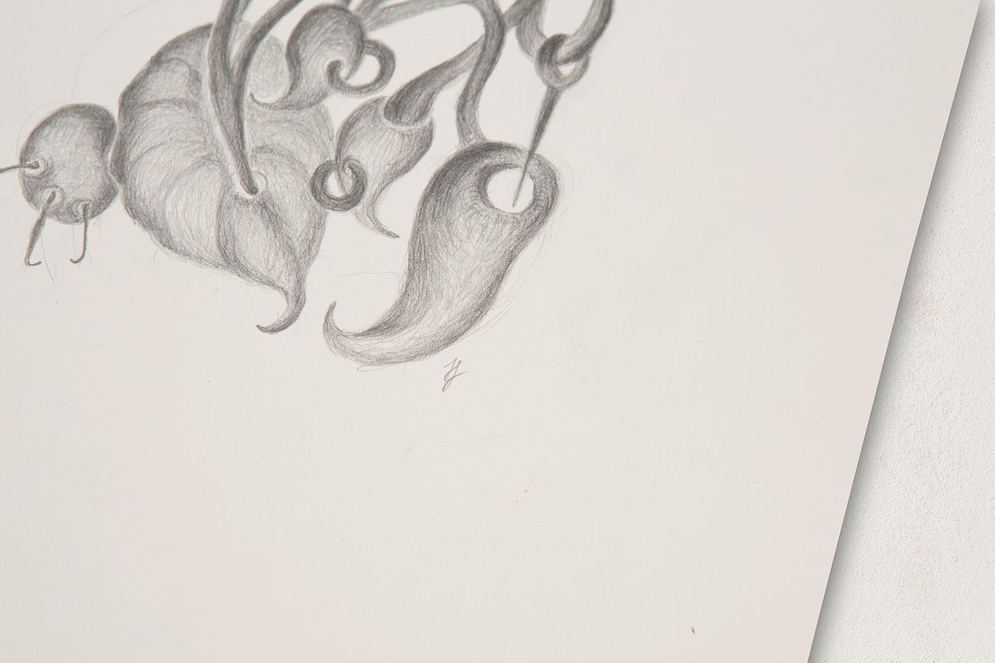 Zeichnung aus der Serie: Form-Fiction