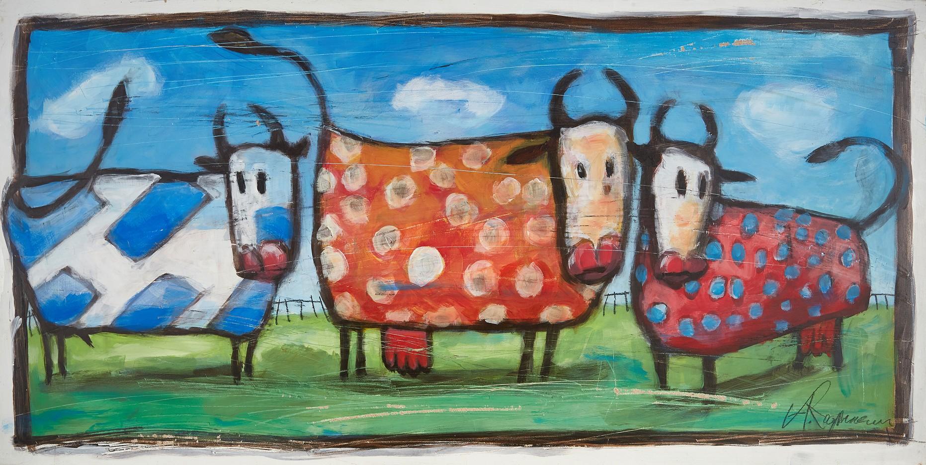 Drei Rinder auf der Weide